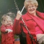 Swing with Granny and grandaughter