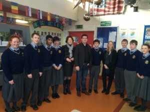 Aonghus with TY Students